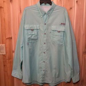 Columbia PFG Omni Shade 2X Vented LS Shirt EUC